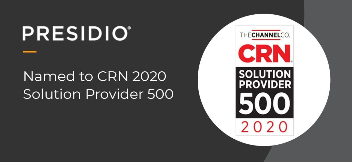 Named to CRN 2020 Solution Provider 500