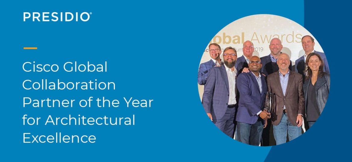 Cisco Global Collaboration Partner of the Year 2019 for Architectural Excellence