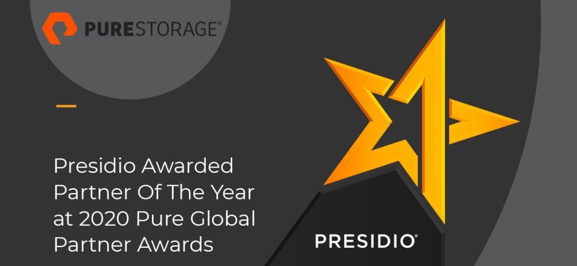 Presidio Awarded Partner of the Year at 2020 Pure Global Partner Awards