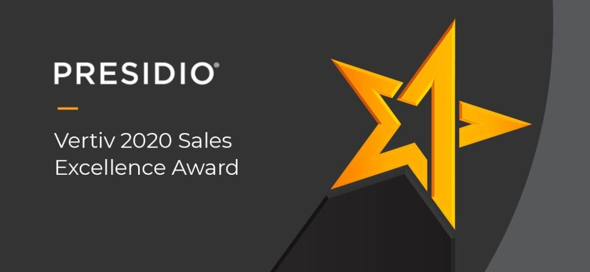 Vertiv 2020 Sales Excellence Award