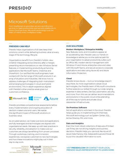 Presidio Microsoft Practice
