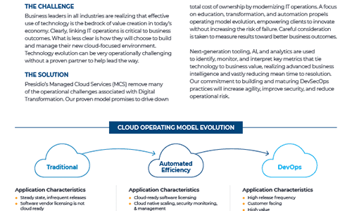 Presidio & AWS Managed Cloud Services
