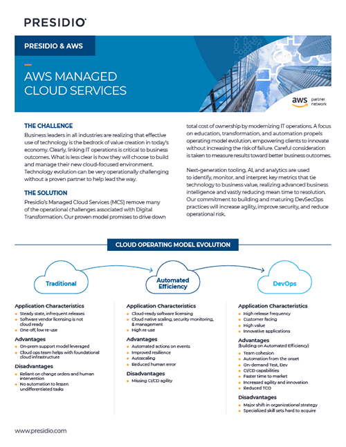 Presidio & AWS Managed Cloud Services