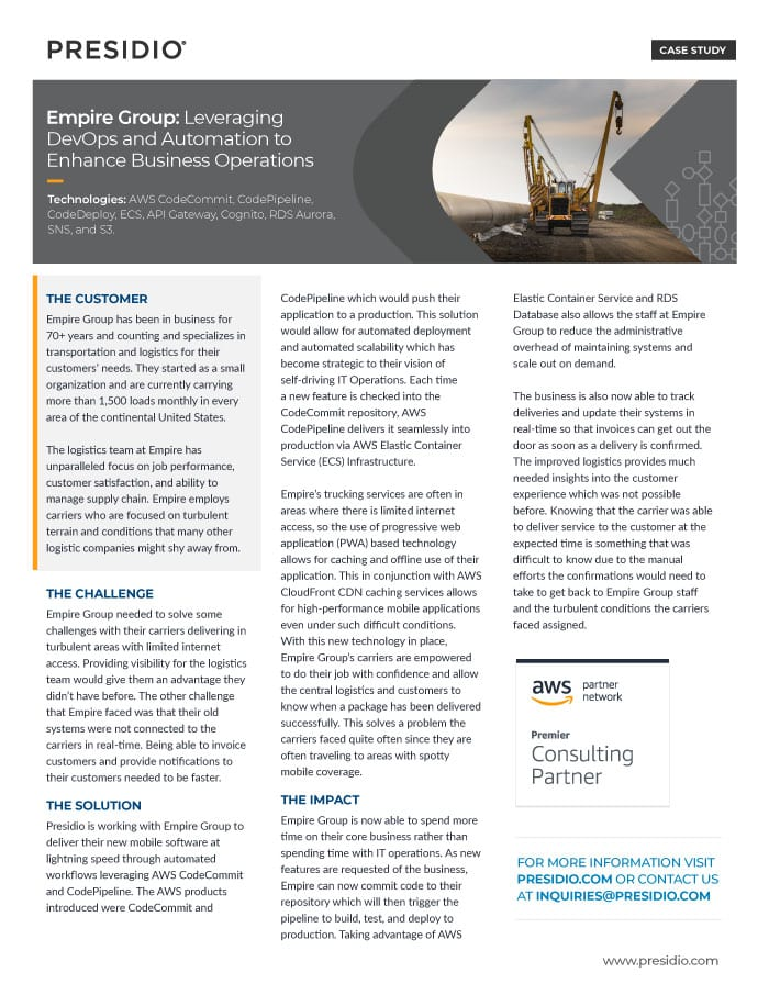 Empire Group: Leveraging DevOps and Automation to Enhance Business Operations