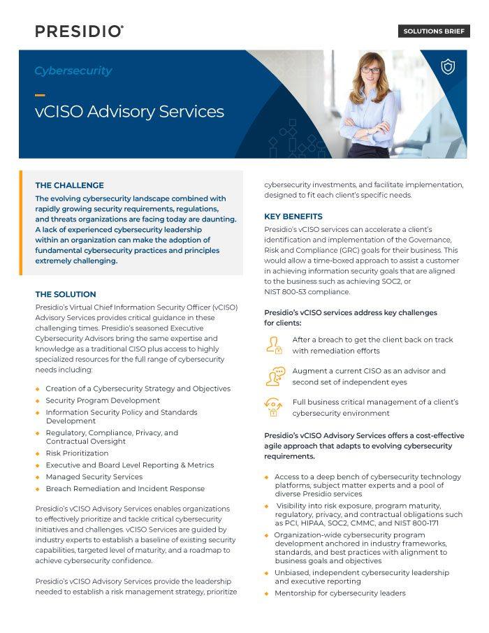 vCISO Advisory Services