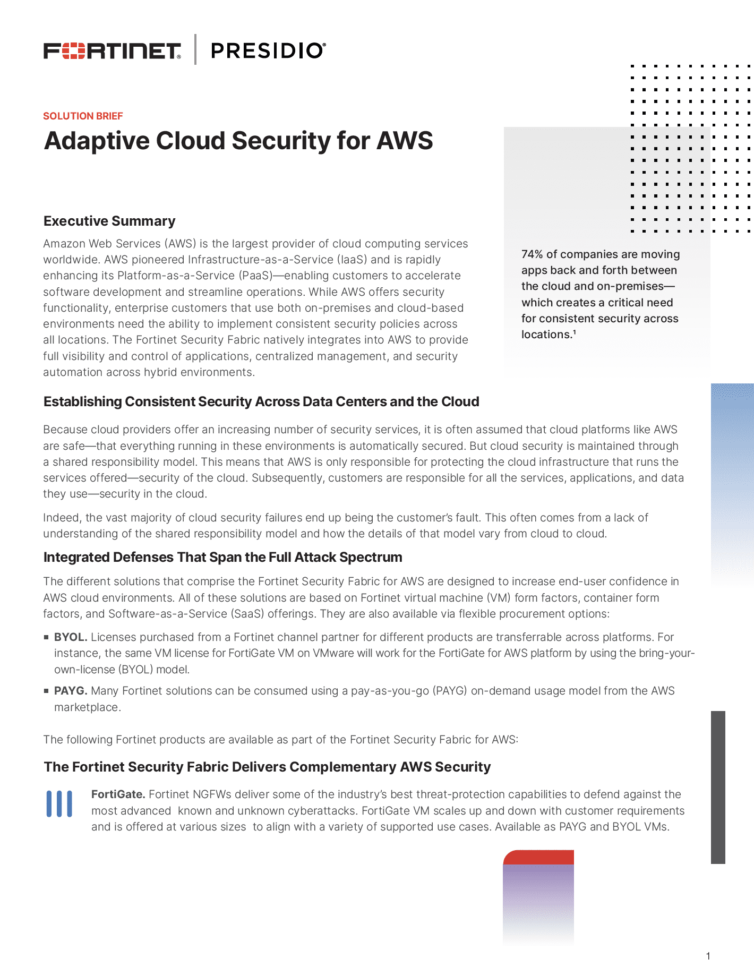 Adaptive Cloud Security for AWS
