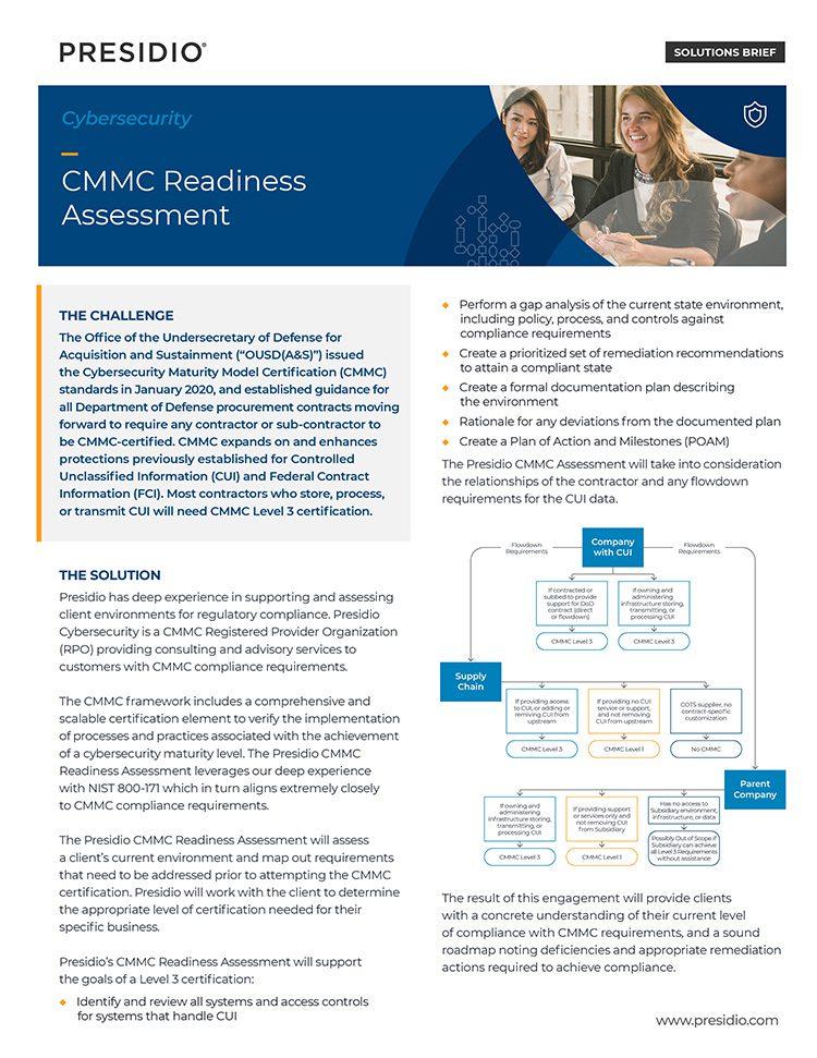 Presidio CMMC Readiness Assessment