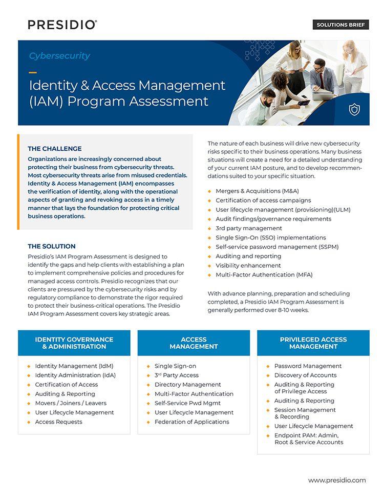 Identity & Access Management (IAM) Program Assessment